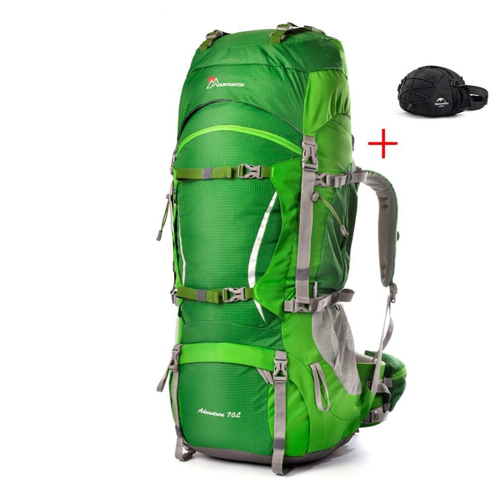 Prix pour Groupe 70L En Plein Air Escalade Sac À Dos + 8L Taille Sacs pour Voyage Randonnée Camping