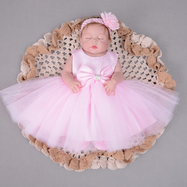 real 55cm Full body silicone reborn baby doll toys with multiple colour dress lifelike sleeping reborn princess girl babies gift