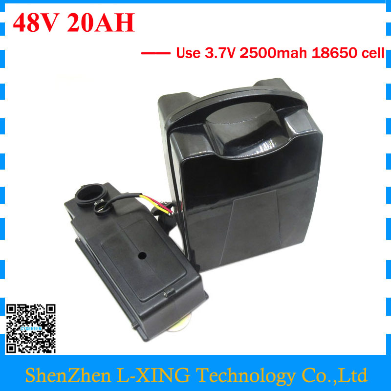 Free customs duty 750W 48V 20AH 1000W 48 V 20AH Lithium Ebike battery use 3.7V 2500mah cell 30A BMS with 54.6V 2A Charger все цены