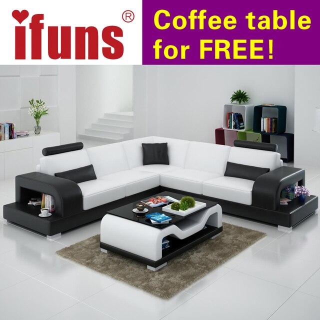IFUNS Classic Italian Real Leather Modern European Sofa Recliner Corner L  Shape Floor Sofa Set Living