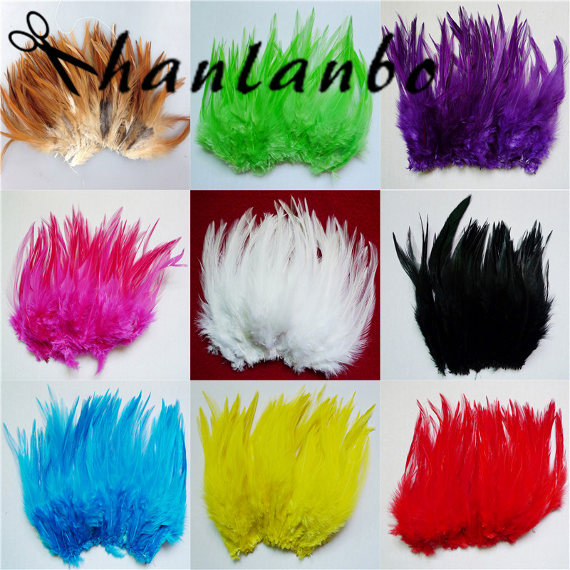 200pcs/lot natural rooster feather Height (10-15cm) 4-6inch rooster plumes plumages for fly fishing party headdress