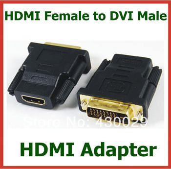 500pcs DHL Free Shipping HDMI Female to DVI Male Adapter Converter Connector for HDTV DVD LCD Gold Plated Wholesale