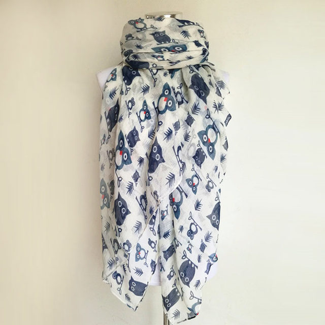 Lady Night Owls Scarves | Lightweight Scarves