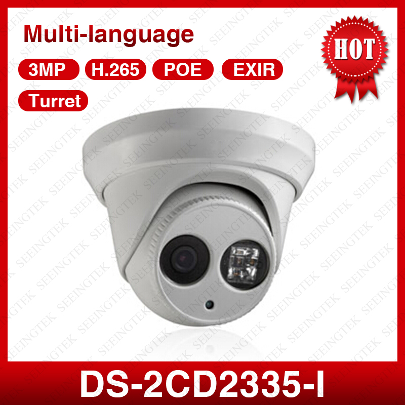 HIK DS-2CD2335-I  Multi-language 3MP Outdoor EXIR,Turret Network Mini Dome POE IP66 waterproof CCTV  Camera  4mm lens hik multi language ds 2cd6412fwd camera ds 2cd6412fwd c2 poe pinhole covert separated network camera for shop home surveillance