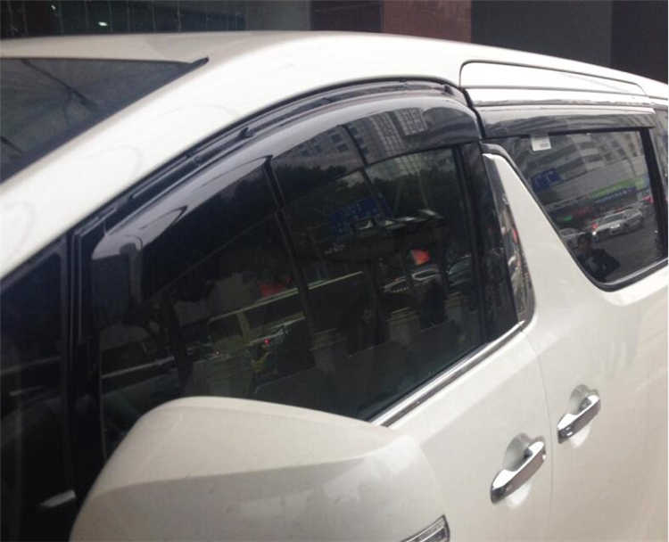 สำหรับ Toyota Alphard พลาสติก Visor Vent Shades Sun Rain Deflector Guard สำหรับ Alphard Auto อุปกรณ์เสริม 4 ชิ้น/เซ็ต 2015-2017