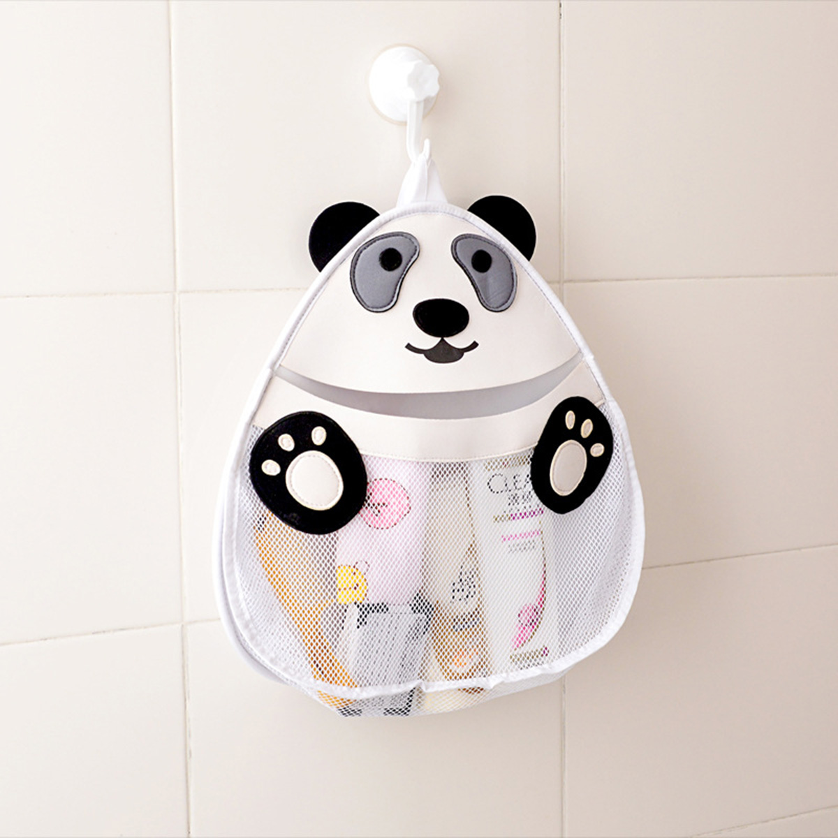 YHYS 3D Cartoon Panda sac de rangement enfants jouet Collection salle de bain étanche le mur sac Net sac lavage fournitures organisateur