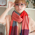 Autumn Winter 2016 Tassels Scarf Plaid Scarf New Designer Female Cashmere Shawls Women's Scarves F028