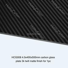 Carbon Galss Board 4.0X400X500mm twill matte carbon glass fiber plate/sheet