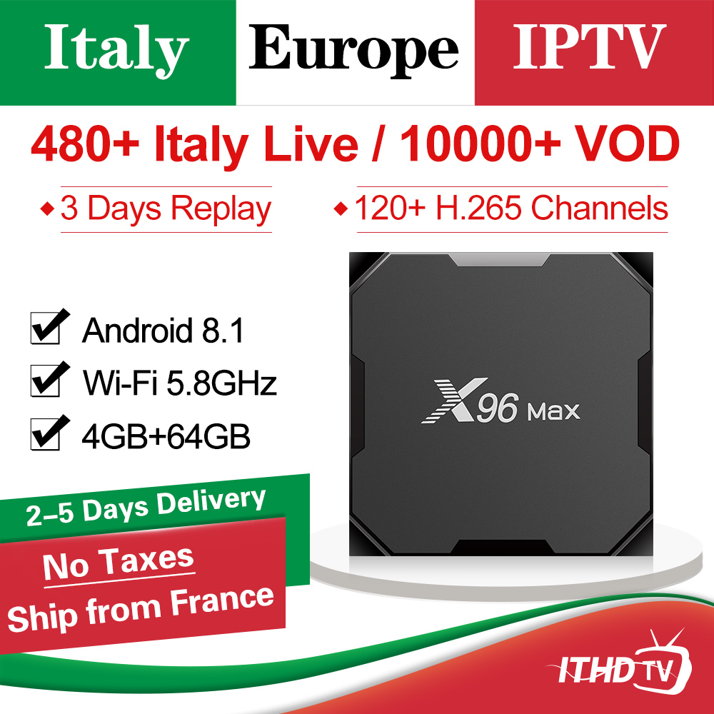 IPTV Italia X96 MAX Italy IPTV Subscription Box Android 8.1 Smart Tv Box 4G 64G Italian IPTV Turkey Arabic Portugal Spain IP TVIPTV Italia X96 MAX Italy IPTV Subscription Box Android 8.1 Smart Tv Box 4G 64G Italian IPTV Turkey Arabic Portugal Spain IP TV