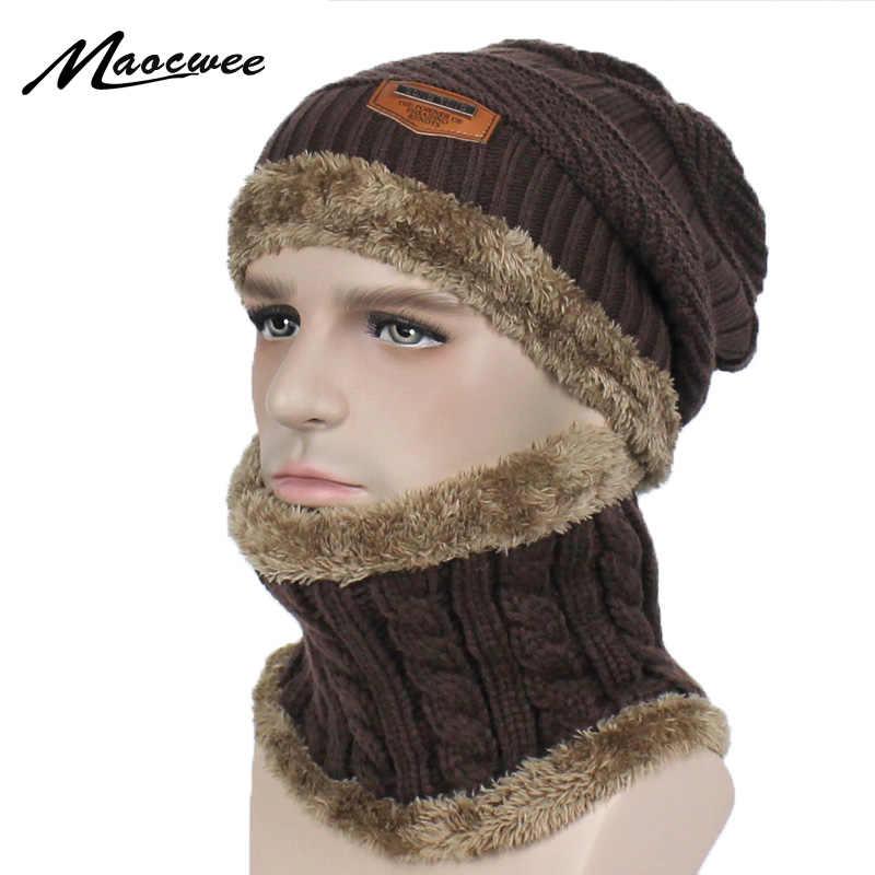 1943f1daa9a5b New Fashion Hats Men Woman Winter Ski Hat Scarf Set Head Hooded Cap  Earmuffs Head Cap