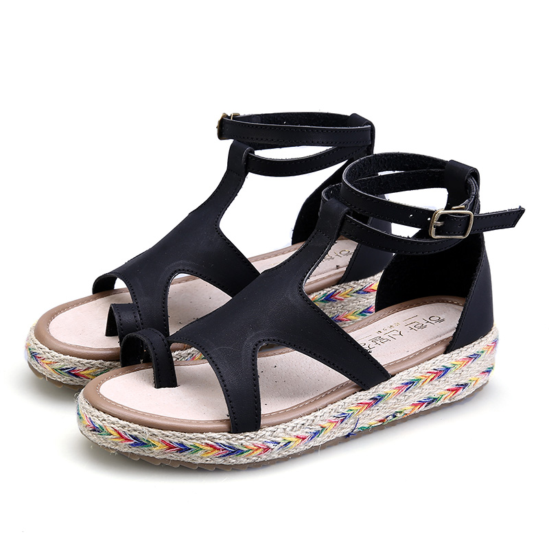 plus size thick soled 2017 summer shoes woman buckle strap ladies platform flip flops flat women sandals Gladiator Beach shoes phyanic 2017 summer new women sandals with chain women buckle strap flat platform summer casual shoes woman phy3413