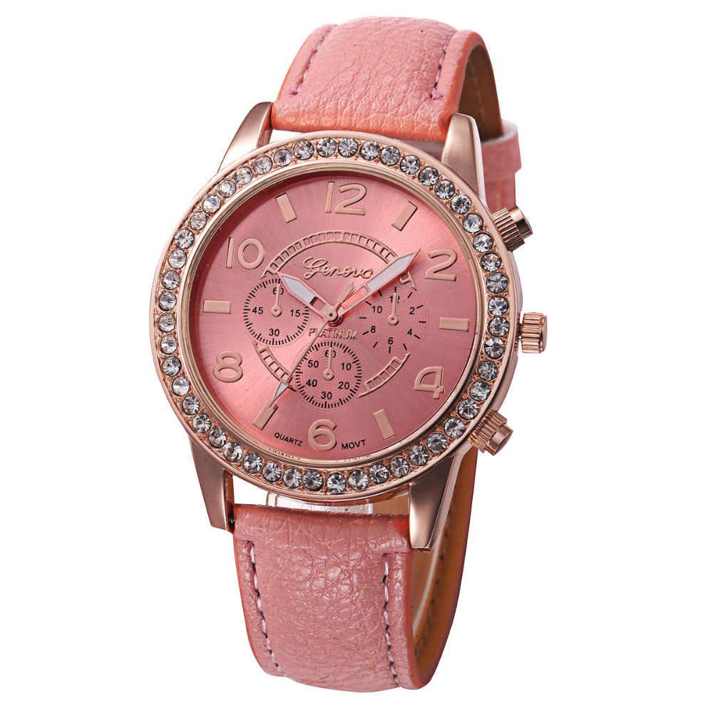 Reloj Mujer 2019 ז 'נבה אופנה נשים יהלומי עור אנלוגי קוורץ שעון יד שעונים נשים שעונים למעלה מותג יוקרה גיתי Fi