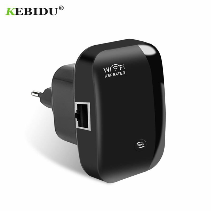 KEBIDU Wireless N300 Wifi Repeater 802.11n/b/g Network WiFi Routers 300Mbps Range Expander Signal Booster WIFI Ap Wps Encryption(China)