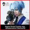 HSIU NEW High Quality Shiota Nagisa Cosplay Wig Ansatsu Kyoushitsu Costume Play Wigs Halloween Costumes Free