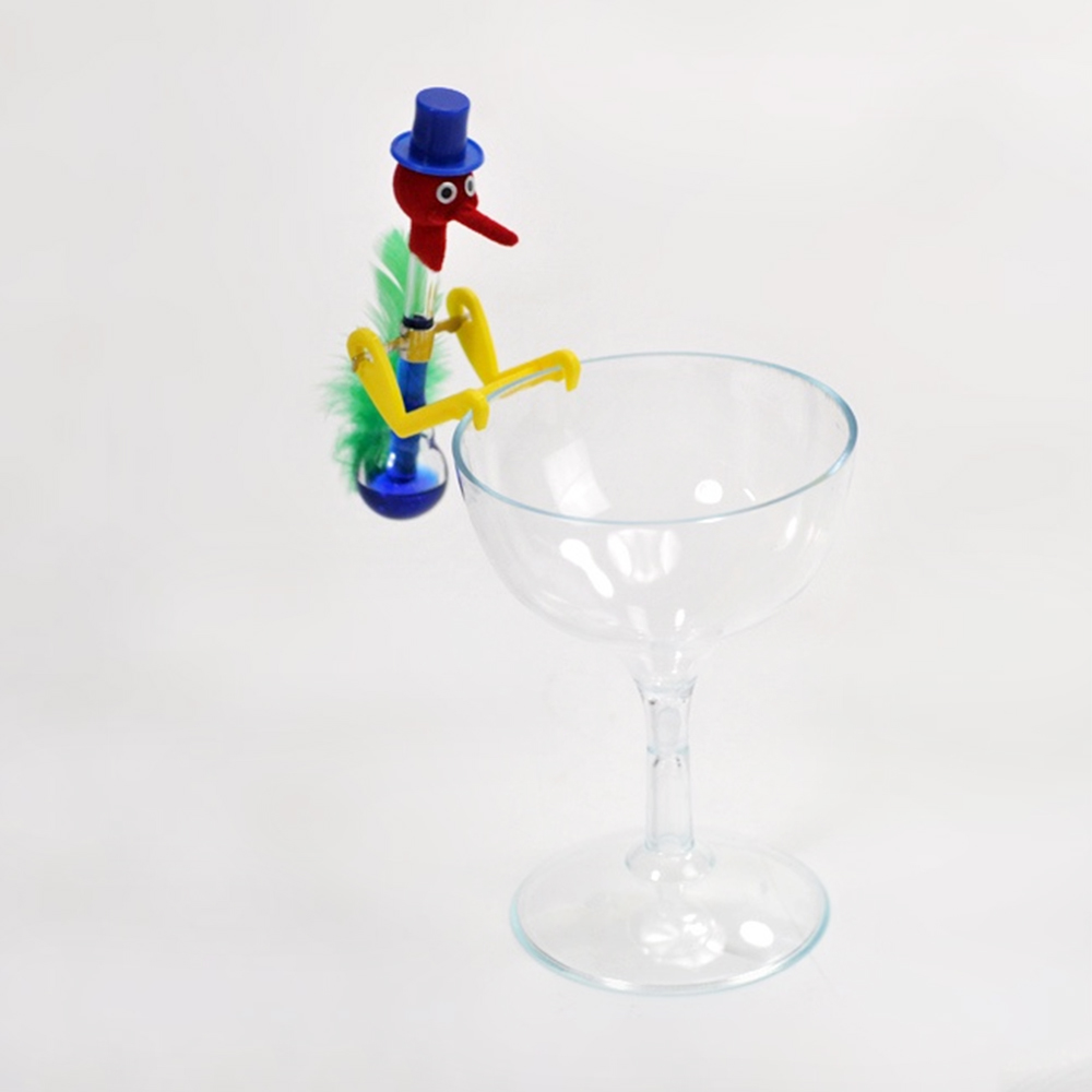 Small Size Glass Cup Drinking Bird Toys Kids Adult Antistress Fidget Gadget Toy Lucky Bobbing Bird For Children Gift