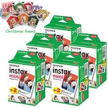 Fujifilm Instax Mini 8 anında beyaz Film + ücretsiz yılbaşı çerçevesi Instax Mini 9 8 8 + 7s 70 90 25 50s kamera SP 2 1 yazıcı