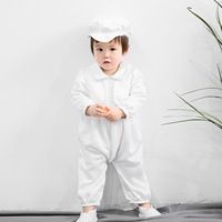 2019 Thanksgiving Infant Baby Clothing Set Baby Romper with Hat 100 Cotton Baby Boy Clothes Baptism Baby Boy Clothes RBS195001