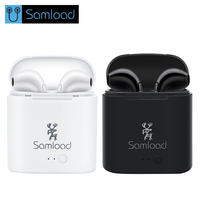 Samload I7S TWS Earbuds Ture Wireless Bluetooth Double Earphones Twins Earpieces Stereo Music Headset For All