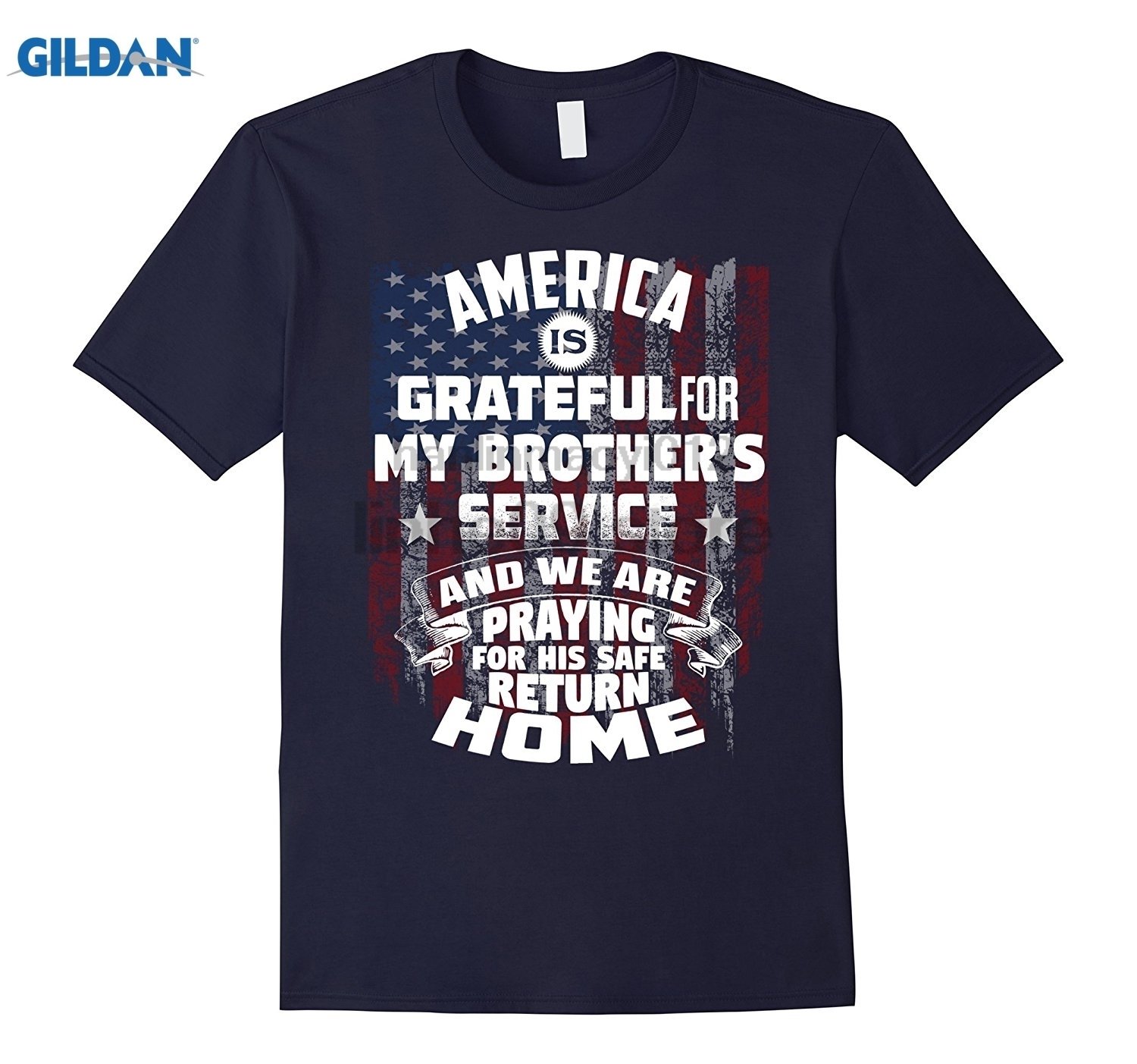 GILDAN Deployed Brother - Praying For His Safe Return Home Womens T-shirt