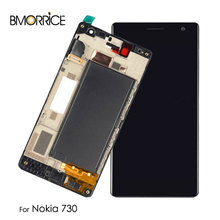 Original LCD Display For Nokia Lumia 730 RM-1038 RM-1039 RM-1040 Touch Screen Digitizer Assembly with Frame Replacement Parts стоимость