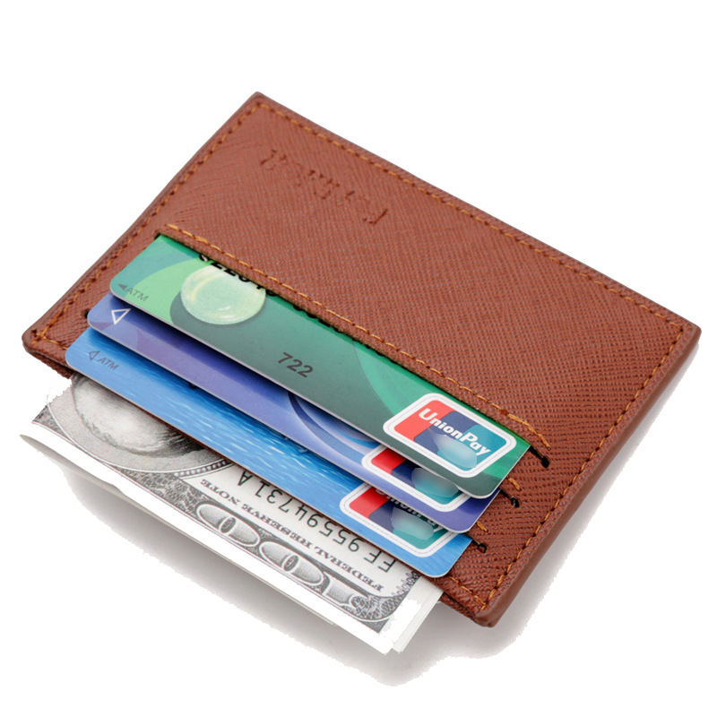 2018 Ultra Thin Fashion Men PU Leather Card Holdrs For Credit Cards Multifunction Money Clip Male Card Cases