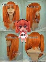 Wholesale heat resistant LY free shipping Haruhi Suzumiya Asahina Orange Cosplay Wig
