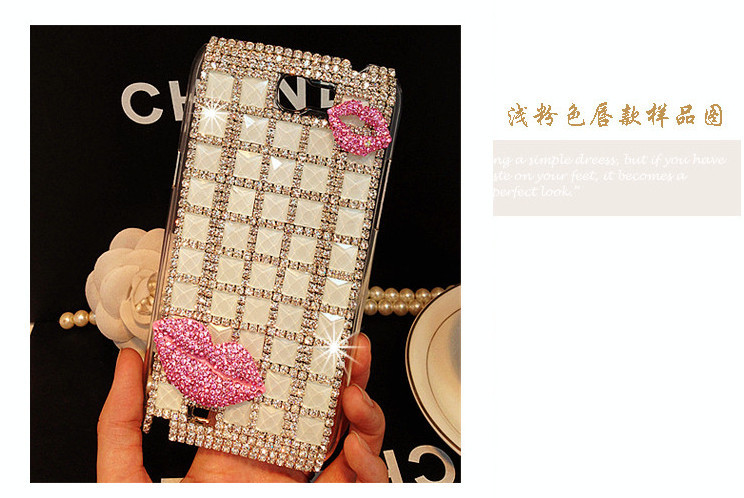 For Huawei P7 case rhinestone mobile phone cases Transparent case protective cover colorful glossy case 15