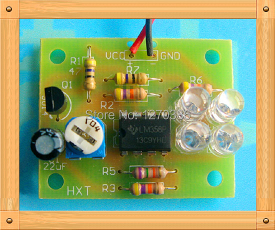 Free Shipping!!! LM358 Quad breathing lights / electronic production suite / glass plate (spare parts) module