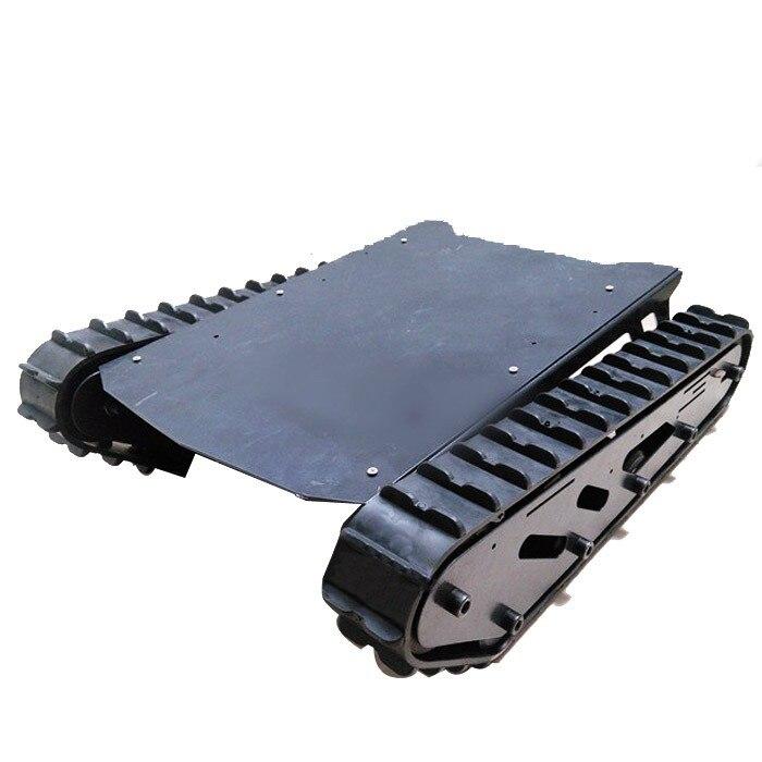 Grande charge T007 chenille en caoutchouc en métal roue porteuse en acier inoxydable roue motrice chaîne Robot réservoir châssis Kit