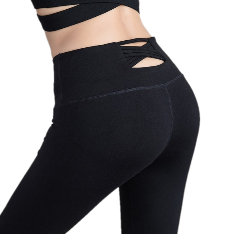 Sexy Sports Leggings Women High Waist Yoga Pants Workout Fitness Tights for Cross Belt Yoga Trousers Running Gym Trousers