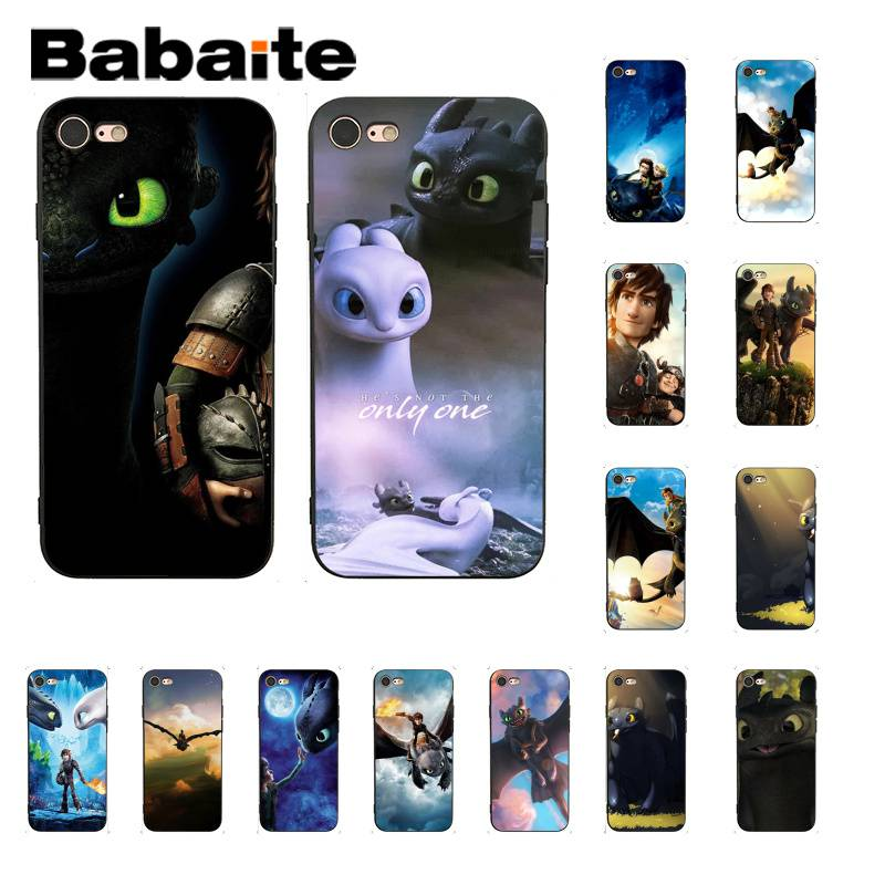 Babaite toothless How To Train Your Dragon Colorful Cute Phone Case for iPhone 8 7 6 6S Plus X XS MAX 5 5S SE XR Fundas Capa iphone