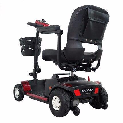 Scooter électrique adulte multifonction personnalisable avec panier 12 V 180 W pliant avec batterie Li-ion rouge jaune noir