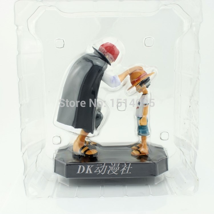 17cm Anime One Piece Monkey D Luffy & Shanks Red-Haired Boxed PVC Action Figure Collection Model Toy Gift OP019 стоимость