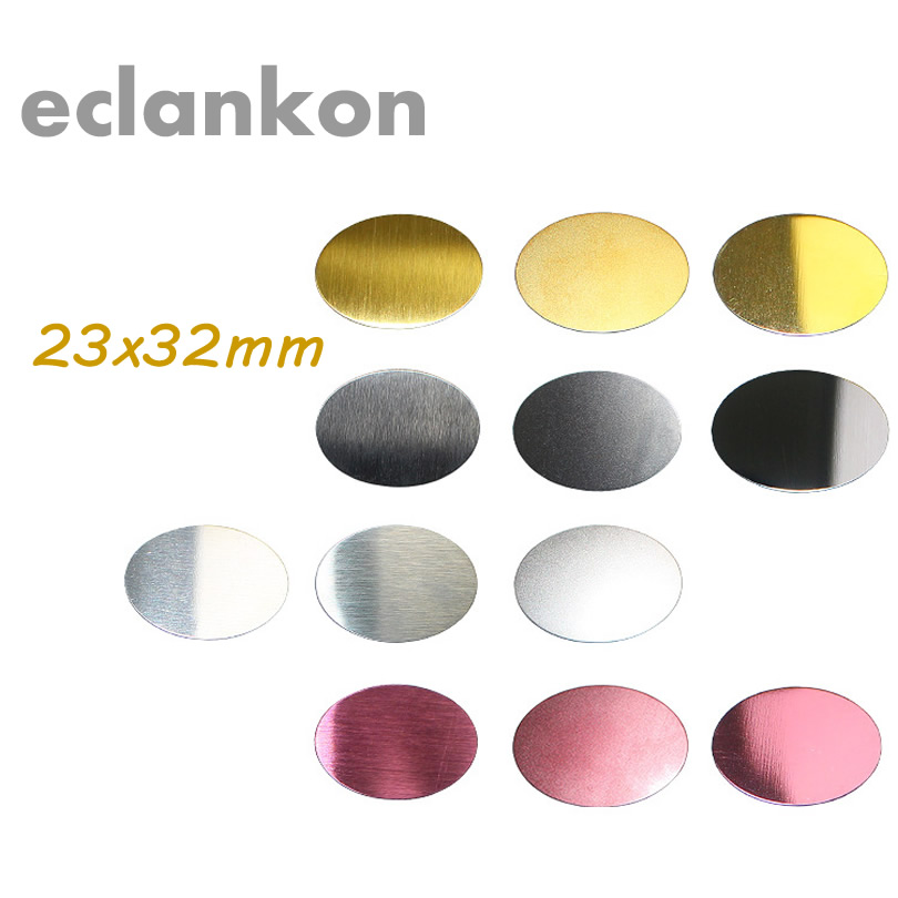 2pcs Universal 23x32mm Matte Brushed Clear Metal Plate Disk Iron Sheet Magnet Magnetic Car Mobile Phone Stand Holder For Iphone
