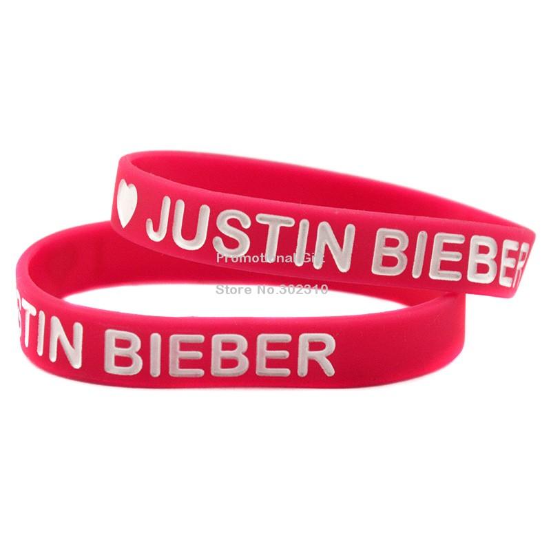 1 шт. джастин бибер браслет силиконовый браслет для любителей музыки