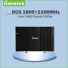 High Gain 70dB Téléphone Portable Répéteur de Signal DCS1800Mhz + 3G WCDMA 2100 Mhz Dual Band Signal Booster avec écran lcd et AGC/MGC