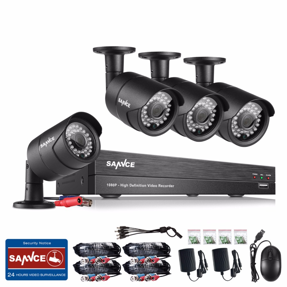 bilder für SANNCE 8CH HD 1080 P CCTV System 2MP Home Security Kameras 1920*1080 P Im Freien wasserdichte CCTV Videoüberwachung System diy kit