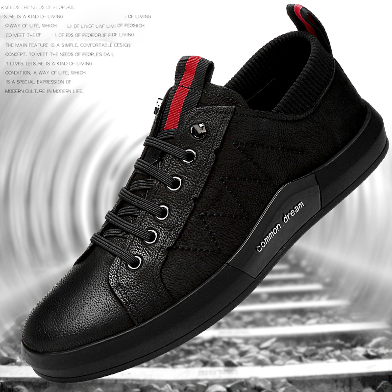 ... shoes men fashion leather young black fashion summer autumn breathable  spring men s all casual sneaker shoes 3a5f778be5db