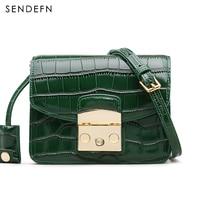 Crocodile Pattern Crossbody Bag Split Leather Women Bag New Female Bag Brand Handbag Quality Women Messenger
