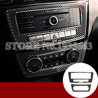 For Benz GLE W166 /Coupe C292 Carbon Fiber Console CD & AC Panel Cover 2015 2018