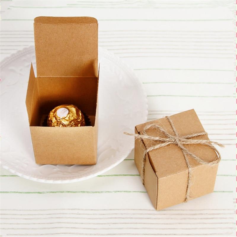Aliexpress Buy 10pcs Retro Leather Cardboard Candy Box Square