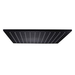 Image 1 - Accesorios para grifos de baño de alta calidad, cabezal de ducha de acero inoxidable SUS304 cuadrado de lluvia de 16 pulgadas, acabado negro mate, venta al por mayor