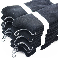 Men's winter black thick warm cotton socks Branded high-quality fashionable man business socks (6 pairs)