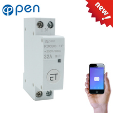 18mm Din Rail WIFI Circuit breaker Smart Switch  Remote control by eWeLink APP for Smart home