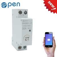 18mm Din Schiene WIFI Circuit breaker Smart Switch fernbedienung durch eWeLink APP für Smart home compatiable mit alexa und google