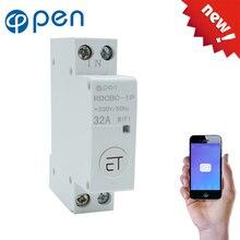 Interruptor de circuito inteligente, 18mm din rail wifi interruptor de controle remoto por ewelink app para casa inteligente