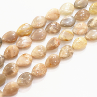 Natural Stone Sunstone Bead Teardrop Loose Beads 13x18mm Waterdrop Shape Fit For Jewelry Diy Necklaces Or Bracelets 15inch B3287