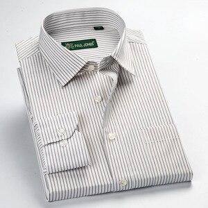 Image 5 - Camisa de manga longa listrada, alta qualidade, novidade, verão/primavera, plus size, s ~ 5xl, masculina, tamanho regular, não ferro fácil cuidar