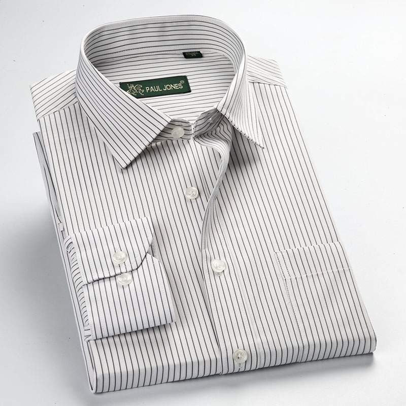 Image 5 - Factory Sale high quality 2019 easy care  new plus size long sleeve striped men dress shirts 5xl  regular fit non iron easy care-in Dress Shirts from Men's Clothing