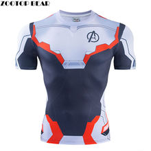 Avengers Endgame t shirt Kurzarm t-shirt Top Anime T Compression t shirts Fitness t-shirt Cosplay Männlichen Marvel ZOOTOP BÄR(China)